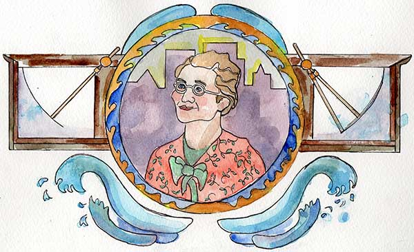 Artwork featuring Mary Anderson by Betsy Zacsek