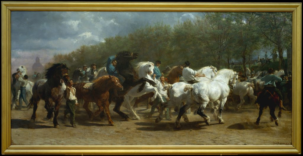 An image of The Horse Fair by Rosa Bonheur