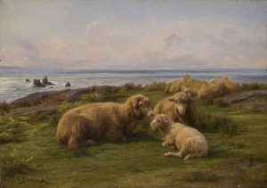 An image of Sheep by the Sea by Rosa Bonheur