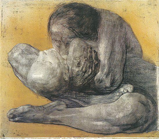 """Woman with Dead Child"" by Kathë Kollwitz, print 1903"