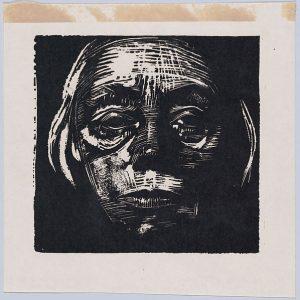 Kathë Kollwitz Self Portrait, an undated print.