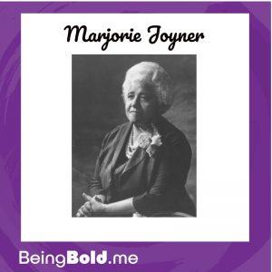 Portrait of Marjorie Joyner in 1964