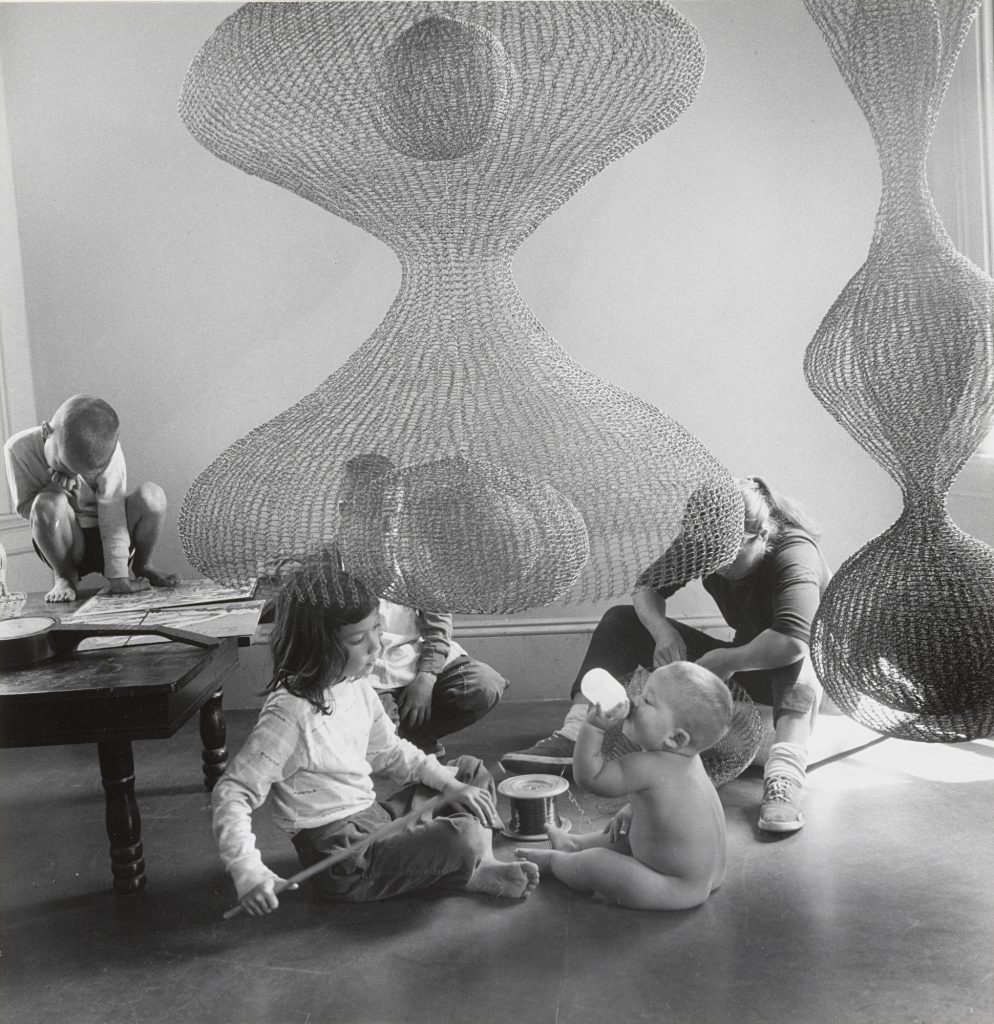 Ruth Asawa at Work with Children, 1957, Photo by Imogene Cunningham