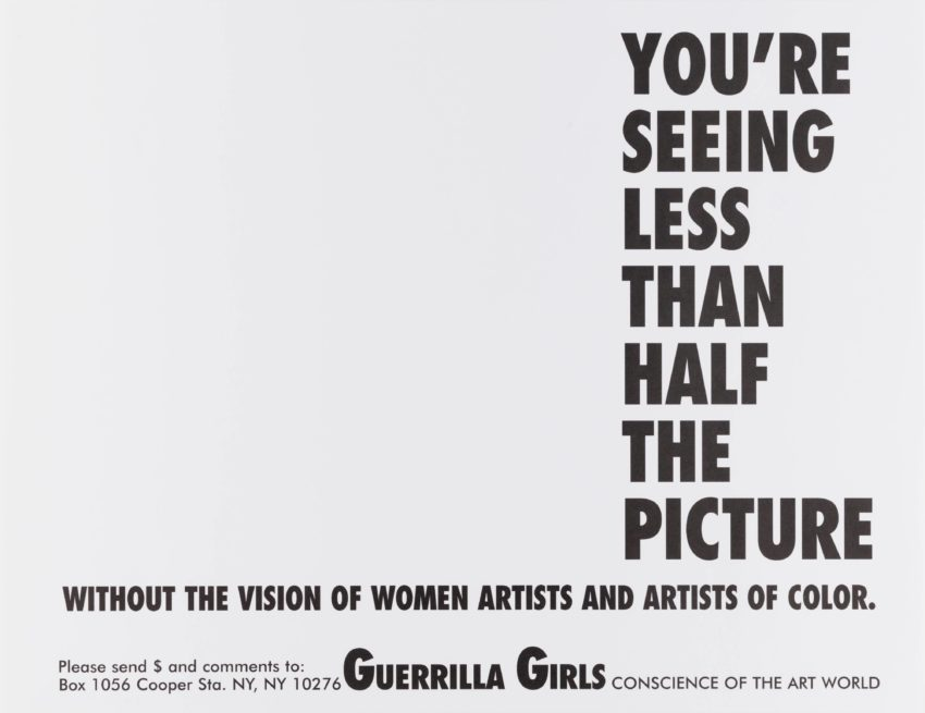 Seeing Less Than Half the Picture, graphic by the Guerrilla Girls