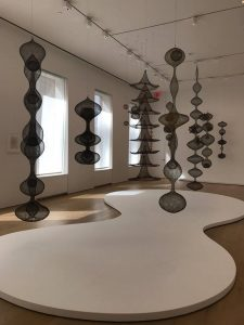 Various works by Ruth Asawa at the David Zwirner gallery in NYC