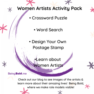 Cover Image of the Women Artists Activity Pack for Kids