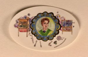 Josephine Cochrane, women inventors vinyl stickers. Copyright Betsy Zacsek 2018.