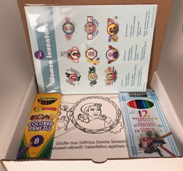 Women Inventors Watercolor Kit by Elaine Luther and Betsy Zacsek, Illustrations Copyright Betsy Zacsek 2018