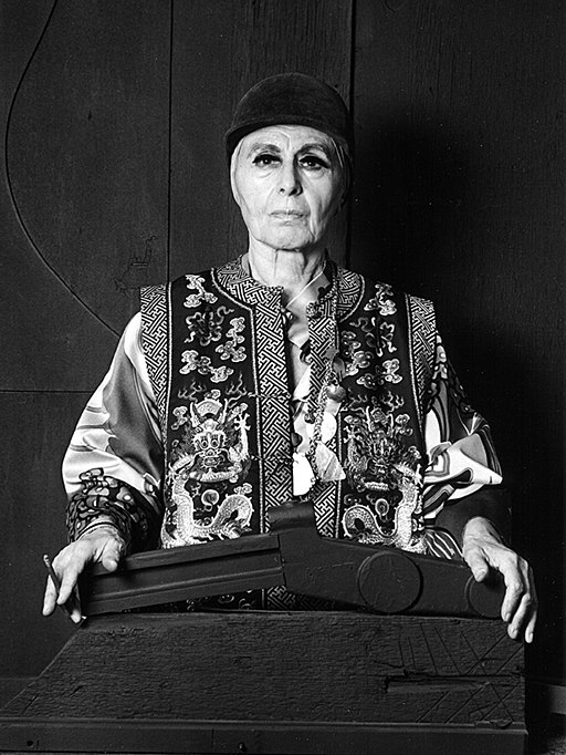 Photo of Artist Louise Nevelson, photographed by Lynn Gilbert in 1976.