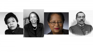 A row of images shows Black inventors Marie Van Brittan Brown, Dr. Patricia Bath, Dr. Shirley Ann Jackson and Granville Woods