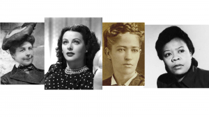 Photos of Mary Anderson, Hedy Lamarr, Josephine Cochrane and Marie Van Brittan Brown, inventors.