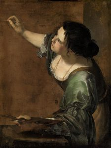 """""""Self-Portrait as the Allegory of Painting"""" by Artemesia Gentileshci"""