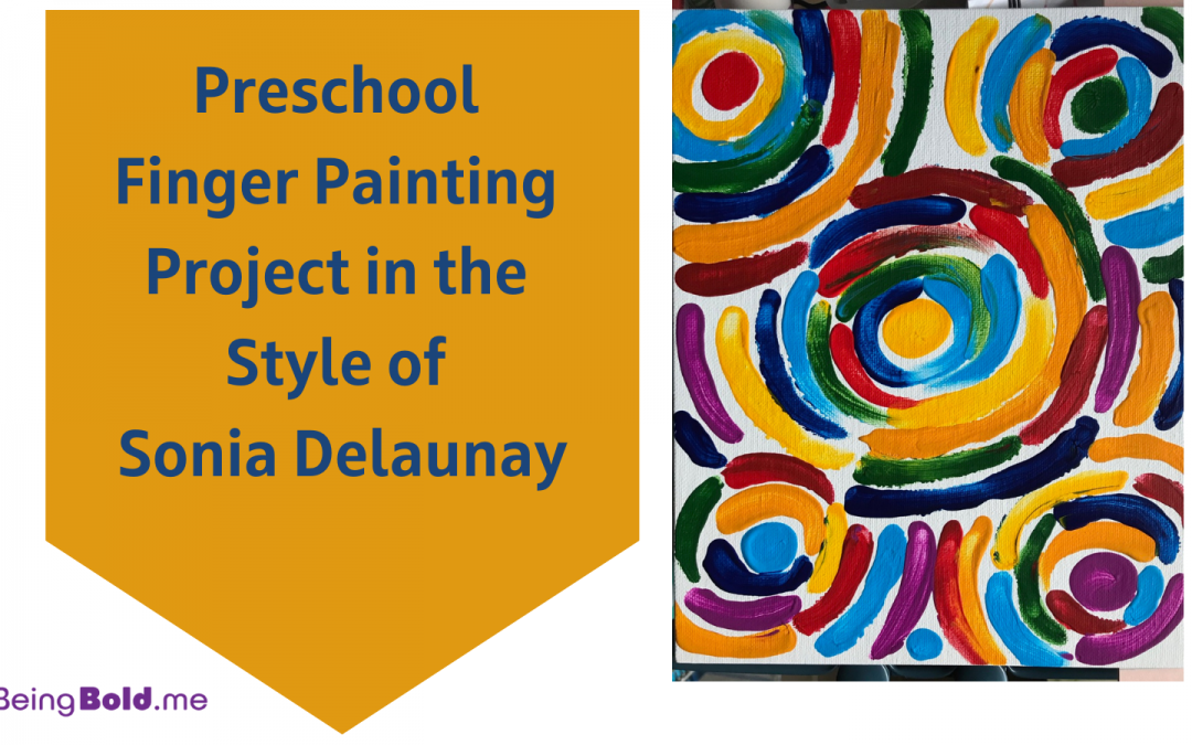 Finger Painting in the Style of Sonia Delaunay and Orphism: Art Projects Inspired by Women Artists