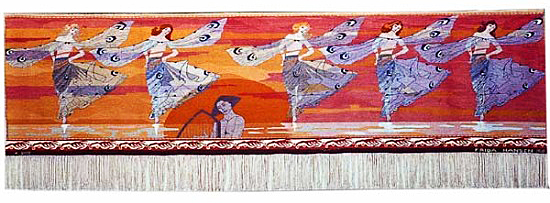 Libellenes Dans, 1901, by Frida Hansen