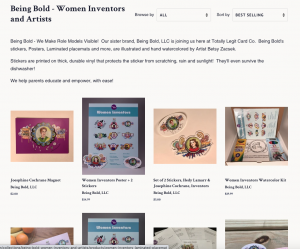 Screenshot of the Being Bold Collection in the Online Store