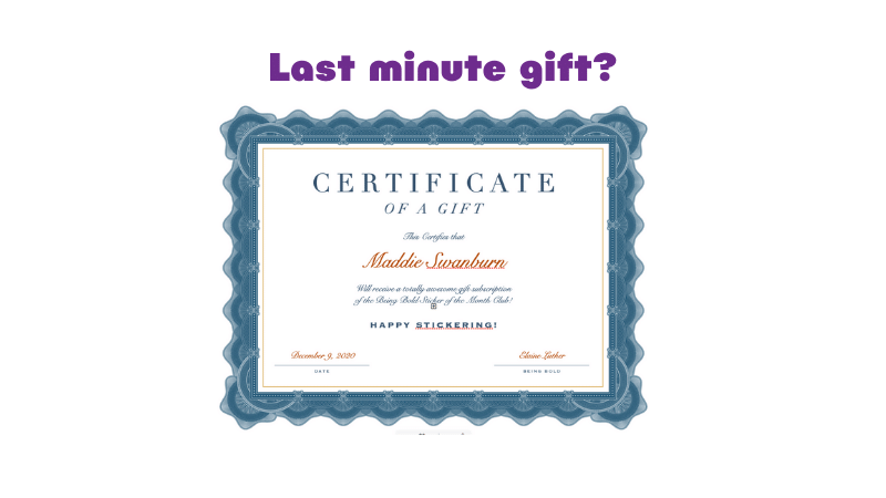 Free, Customized Certificate with Purchase